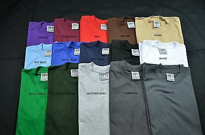 6 New Shaka Wear Super Max Heavy Weight T-Shirts Color Tee Plain Xlt Tall 6Pc