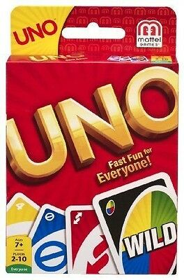 UNO Card Game, NEW by Mattel