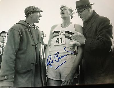 Sir Roger Bannister - First Sub 4 Minute Mile -   Signed B/W Photograph
