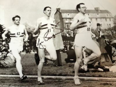 Sir Roger Bannister - First Sub 4 Minute Miler -  Signed B/W Photo