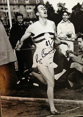Sir Roger Bannister - First Sub 4 Minute Miler -  Signed B/W Photograph