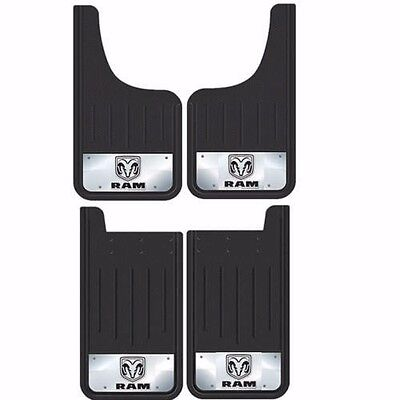 4Pc Dodge Ram Logo 12X23 Mud Splash Guards Flaps For Truck Suv