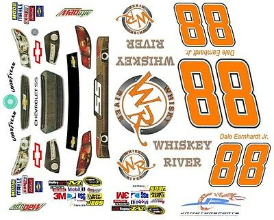 #88 Dale Earnhardt jr. Whiskey River 2013 1/64th HO Scale Slot Car Decals