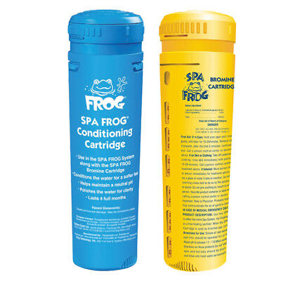 Spa Frog 1 x Bromine 1 x Mineral Cartridge for Dispenser System  Pool Hot tub