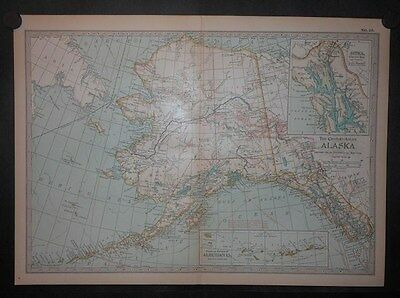 Alaska 1897 Map By Century Counties Cities Rivers Lakes Roads