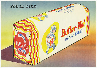MAGNET ADVERTISING Butter Nut Enriched Bread 1930s Refrigerator Magnet