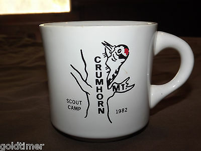 Vintage Bsa Boy Scouts  Coffee Mug 1982 Crumhorn Scout Camp