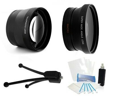52mm hd 2.0x conveter lens and wide angle for 18-55mm Pentax K-x Kx Km K-m Kr