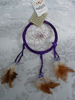 PURPLE DREAM CATCHER 350mm x 115mm Wicca Pagan Witch Spell Goth Native American