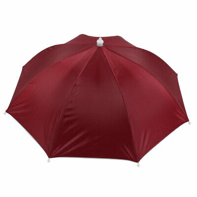 Red Umbrella Hat Golf Fishing Camping Headwear Cap Red