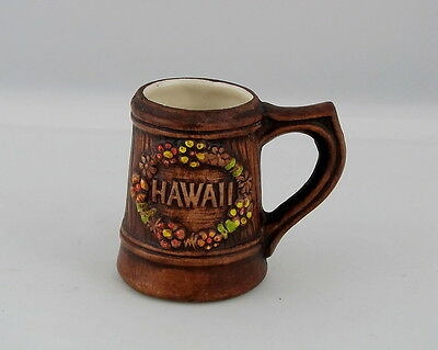 "Vintage Treasure Craft of Hawaii Mug Toothpick Holder, Hawaii Souvenir, 3"" tall"