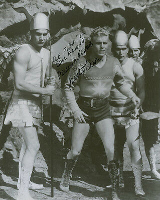 "10""x8"" PHOTO PRINTED AUTOGRAPH - BUSTER CRABBE c"