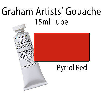 M. Graham Artists' Gouache Pyrrol Red (Primary)  15ml Tube 36-154