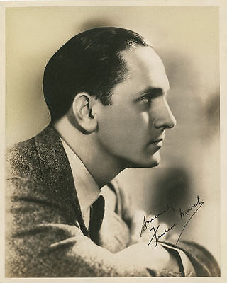 "10""x8"" PHOTO PRINTED AUTOGRAPH - FREDRIC MARCH"
