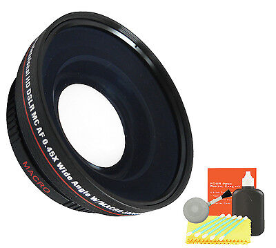 72mm HQ Wide Angle Lens Kit f/ Canon eos Rebel XS XT XTI XSI Camera(72mm)