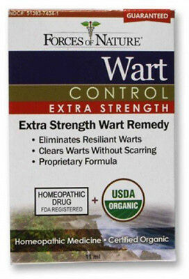 FORCES OF NATURE - Wart Control Extra Strength - 0.37 fl. oz. (11 ml)