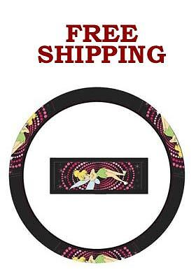 New Tinker Bell Tinkerbell Mixed Optic Pink Car Truck Steering Wheel Cover