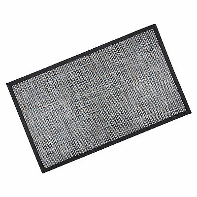 Large Black/ Grey/ Brown PVC Modern Home Hall Kitchen Door Floor Mat - 76 x 46cm
