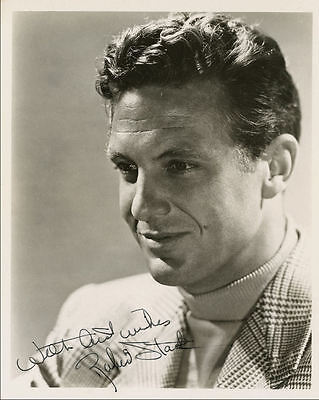 "10""x8"" PHOTO PRINTED AUTOGRAPH - ROBERT STACK a"
