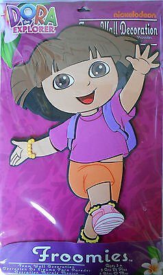 3D Dora the Explorer Wall Decoration Froomies 18.5 x 11.25 in-Skip Step Pose NEW