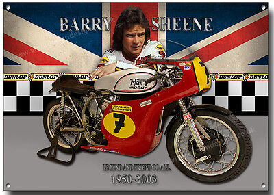 Barry Sheene Metal Sign,world Champion Grand Prix Motorcycle Road Racer.legend.