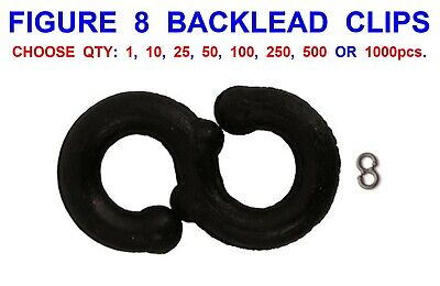 10 x 1.5oz approx carp back leads with safety clips dark green textured