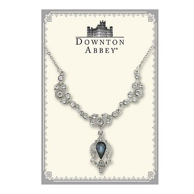 The Downton Abbey Collection Montana Blue Jewel Silver Drop Necklace 17507