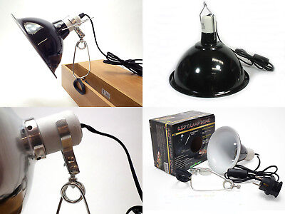 Clamp Lamp Reflector Dome Ceramic Holder Black White with Hook 60W 75W 150W 200W