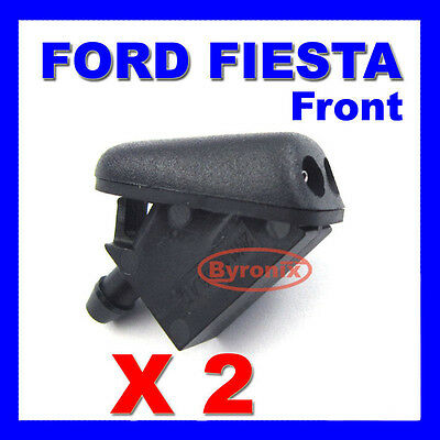 Ford Fiesta Front Windscreen Washer Jets X 2 Spray Nozzle - With Rubber Seal
