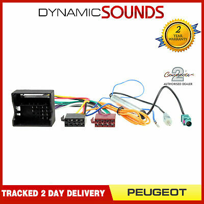 CT20PE03 Wiring Loom Harness ISO Adaptor Lead For Peugeot 207,406,407,807,3008