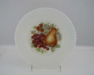 "MACBETH-EVANS PETALWARE PLATE w FRUIT DECORATION, 8"" dia"