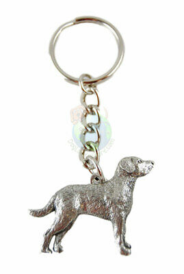 Chesapeake Bay Retriever Keychain Key Chain Ring Fine Pewter