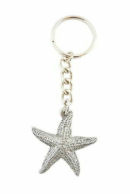 Starfish Fine Pewter Silver Keychain Key Chain Ring