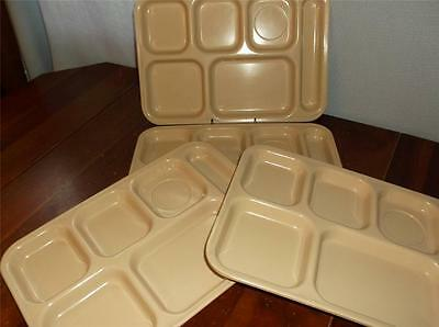 Set Of 4 Dallas Ware Tan/Beige Divided Trays # P-71