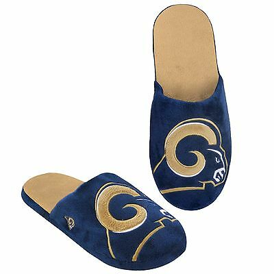 LA Los Angeles Rams Slippers Team Colors Logo NEW - Two Toned House shoes! BLG