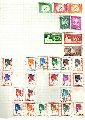 Asia INDONESIA Old Stamp Collection REF:PA355