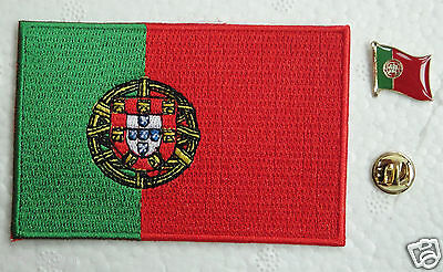 Portugal National Flag Pin and Patch Embroidery