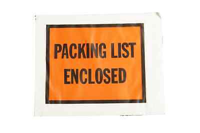 "2000 Pouches, Packing List Enclosed 4.5"" x 5.5"" Full Faced Envelopes"