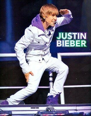 """JUSTIN BIEBER - 11""""x9"""" PINUP - CLIPPING - MINI POSTER - DOUBLE SIDED - 2011 - 77"""