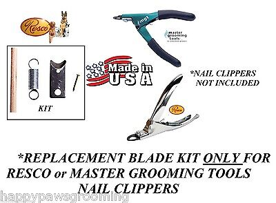 REPLACEMENT BLADE KIT for Resco or MASTER GROOMING TOOLS NAIL TRIMMER CLIPPER