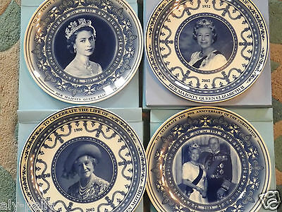 WEDGWOOD ELIZABETH THE QUEEN MOTHER CELEBRATION PLATES ROYAL free uk postage