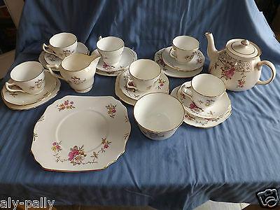 gibson fine bone china staffordshire teaset vintage longton england free uk post