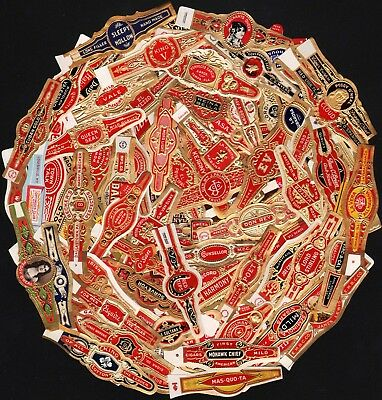 Vintage original CIGAR BAND LABELS Lot of 122 DIFFERENT unused new old stock