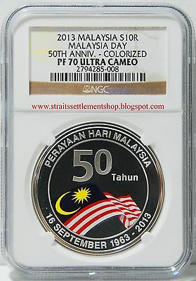Malaysia 2013 50Th Anniv Of The Formation Of Malaysia Proof Silver Ngc Pf70