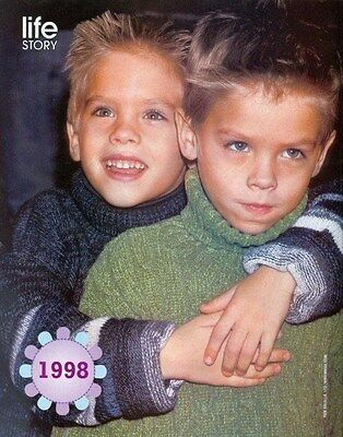 """DYLAN & COLE SPROUSE - 11"""" x 9"""" MAGAZINE PINUP - POSTER - BLONDE TEEN BOY"""
