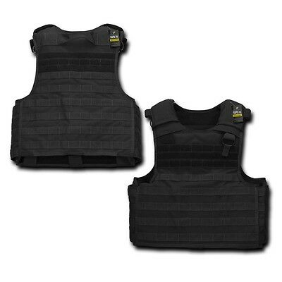 Black Tactical Plate Carrier Modular Operator MOLLE Military Police SWAT Vest