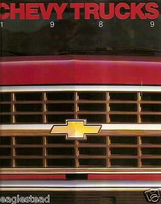 Truck Brochure - Chevrolet - Chevy - Product Line Model Overview - 1989 (TB253)