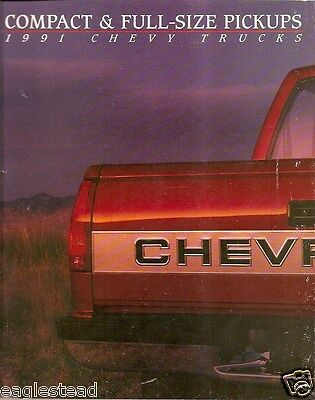 Truck Brochure - Chevrolet - Chevy - Product Line Model Overview - 1991 (TB254)