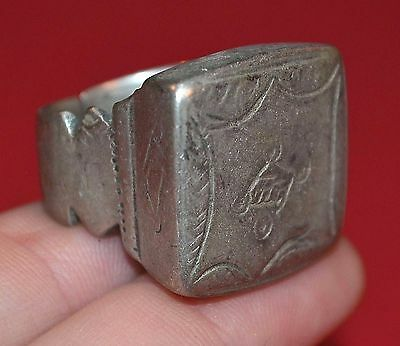 Large Antique African Tuareg Ethnic Coin Silver Ring Niger, Africa - Ring Size 8