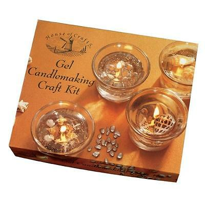Gel Candle Making Set Craft Kit By House Of Crafts HC350 Clear Wax With Shells